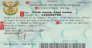 Visa of South Africa