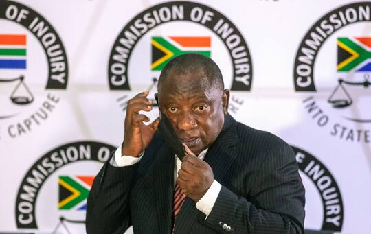 South African President Cyril Ramaphosa says corruption has damaged the country